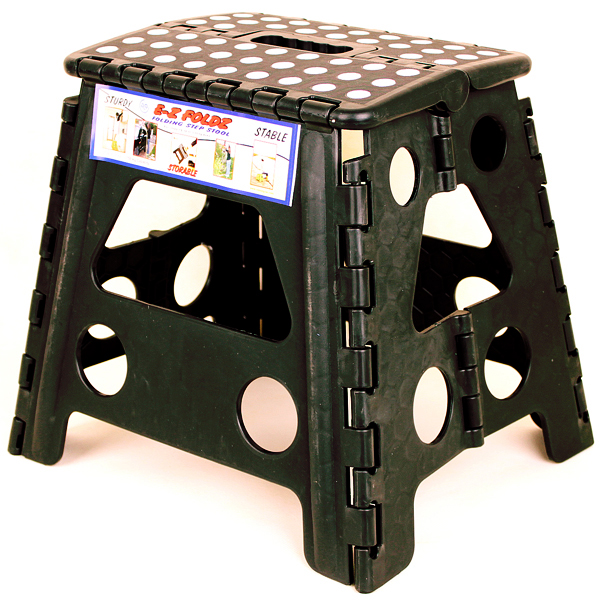 Black Ez Foldz Step Stool Bench 13 High Affordable