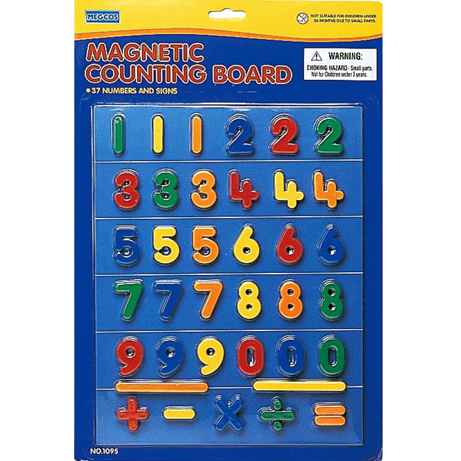 Megcos Fun Magnetic Numbers Set of 37pc